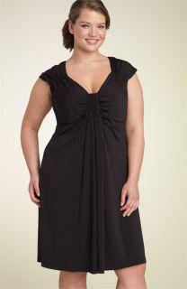 Muse Ruched Matte Jersey Dress (Plus)