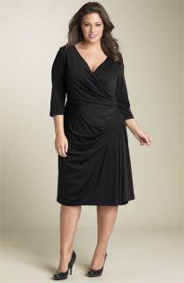 Maggy London Faux Wrap Matte Jersey Dress (Plus)
