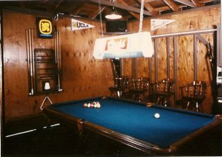 Pool Table Light Cues and Cue Rack