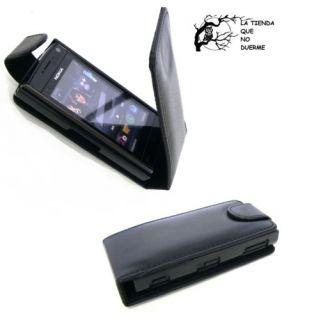Funda de Cuero Para Nokia x6 Negra