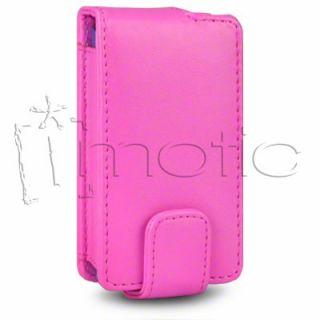 Funda Cuero Piel Sony Ericsson Xperia x8 Color Rosa Fucsia ¡Oferta