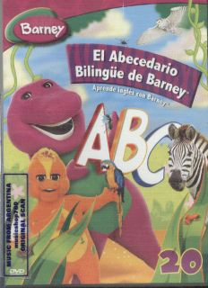 DVD BARNEY ABECEDARIO BILINGUE IN SPANISH SEALED NEW LEARN ENGLISH