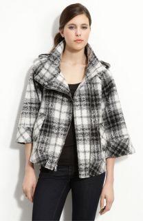 GUESS Asymmetrical Wool Blend Swing Jacket