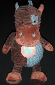 10 Dan Dee DanDee Plush Horse Brown Blue Stuffed Animal Toy New
