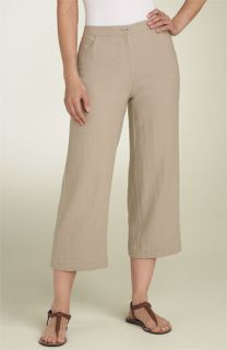 Eileen Fisher Crop Linen Blend Pants (Plus)