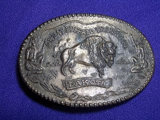 VTG Great Buffalo Trading Company DAKOTA Belt Buckle ‹(•¿•)›