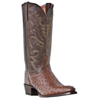 Dan Post Genuine Ostrich Mens Western Cowboy Boots Tobacco DP2328