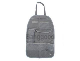 Grey Car Back Seat Organizer Auto Travel Multi Pocket Storage Bag