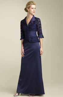 JS Collections Lace Jacket & Stretch Satin Skirt