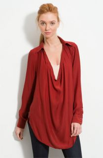 Haute Hippie Drape Neck Blouse