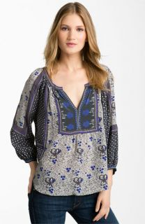 Rebecca Taylor Mixed Print Silk Blouse