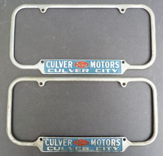 Early 1950s Culver City Ford License Plate Frames
