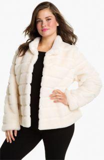 Kristen Blake Faux Fur Jacket (Plus)