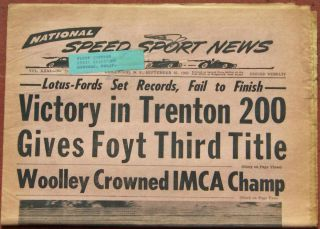 25 63 National Speed Sport News A J Foyt Jimmy Clark Dan Gurney