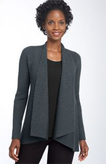 Eileen Fisher Ribbed Merino Wool Cardigan