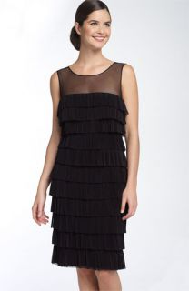 Calvin Klein Pleated Tier Sheath Dress