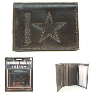 Dallas Cowboys Embossed Logo Black Tri Fold Wallet   * *