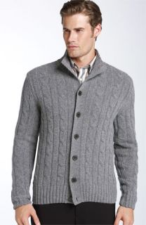 Façonnable Cable Knit Lambswool Cardigan