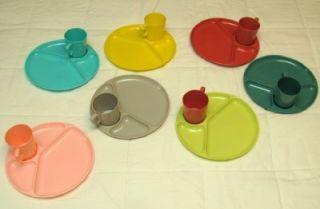 Gothamware Heavy Plastic Picnic Plates Cups Utensils 7 Sets