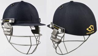2013 Masuri Test Titanium Mens Navy Cricket Helmet