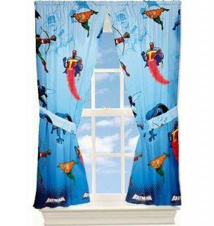comics batman brave bold blue window treatment panels curtains drapes