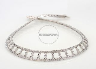 Damiani 18K White Gold Diamond Double Row Necklace Exquisite Design