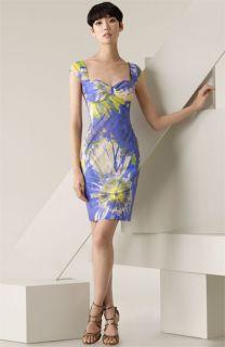 Blumarine Floral Print Stretch Cotton Dress