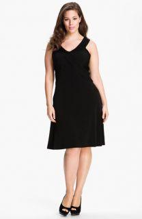 Calvin Klein Crisscross Sleeveless Knit Dress (Plus)