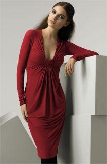 Donna Karan Collection Twisted Knot Jersey Dress