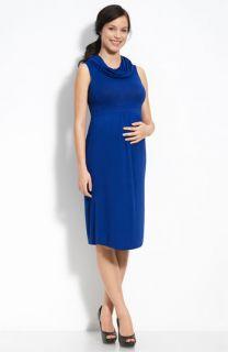 Every Grey Maternity Penelope Cowl Neck Dress