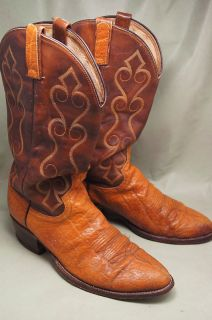 Dan Post Exotic Brown 10 D Mens Western Boots