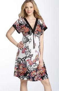 Olian Maternity Catherine Tie Waist Dress
