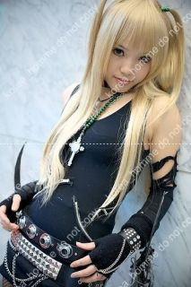 Death Note Cosplay Wig Amane Misa Costume Blonde VER3