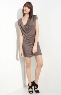 Helmut Lang Chrome Drape Front Jersey Dress