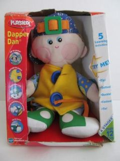 Playskool Dapper Dan 5 Activity Dress Up Learning Doll Play Button