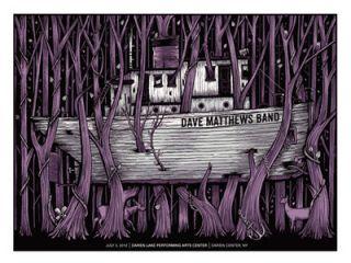 2012 Dave Matthews Band Darien Lake Tug Boat Tugboat 12 Concert Poster