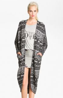 Haute Hippie Fairisle Long Merino Cardigan
