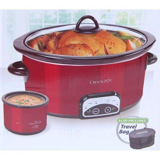Crock Pot SCCPVP609 R 6 Quart Original Slow Cooker w Little Dipper and