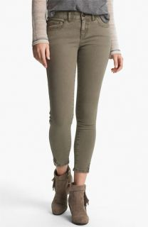 Free People Crop Stretch Denim Skinny Jeans (Mountain Olive)