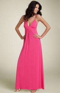 Julie Brown Jersey Knit Maxi Dress