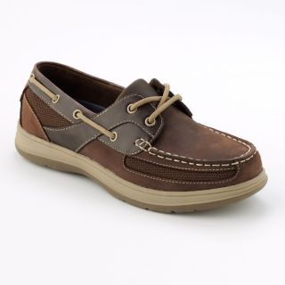 Croft Barrow Oxford Boat Shoes Sz 13 Brown