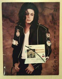 MICHAEL JACKSON 1992 OFFICIAL PEPSI DANGEROUS TOUR PROGRAM BOOK TICKET