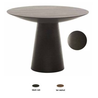Dania Small Round Stained Wood Dining Table Modern