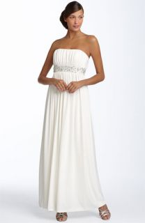 Maggy London Beaded Matte Jersey Gown