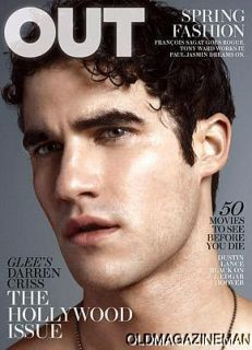 Out Magazine Darren Criss Glee March 2011 Blaine