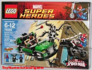Lego Super Heroes Spider Man Spider Cycle Chase 76004 New SEALED in