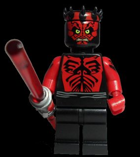 LEGO STAR WARS DARTH MAUL SHIRTLESS MINIFIGURE 5000062 / 6005188 NEW