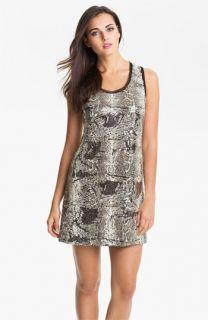 Donna Morgan Sleeveless Print Sequin Shift Dress