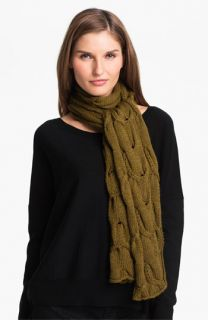 Eileen Fisher Cabled Merino Wool Scarf (Online Exclusive)