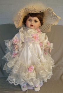 Rustie 22 Porcelain Baby Doll Auburn Hair Brown Eyes
